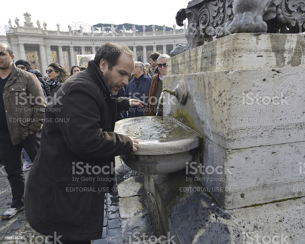 One drinking fountain stock photo