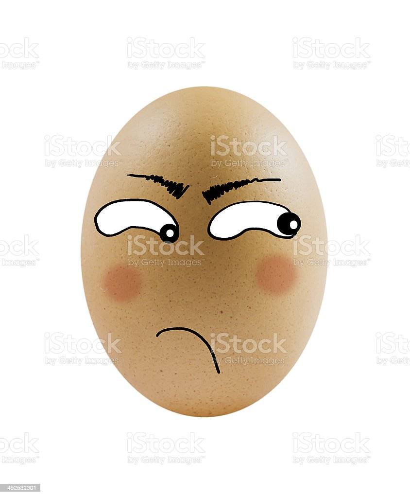one eggs with face royalty-free stock photo