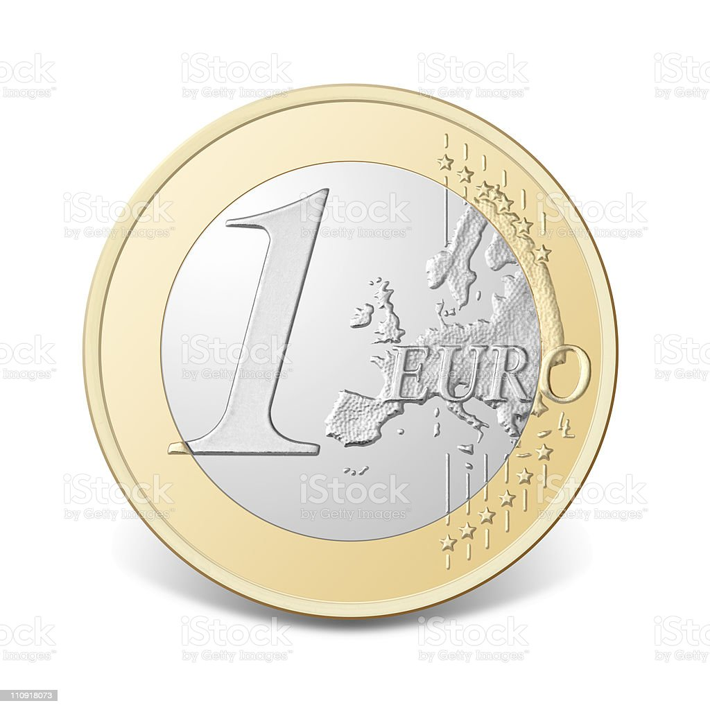 One euro coin. royalty-free stock photo