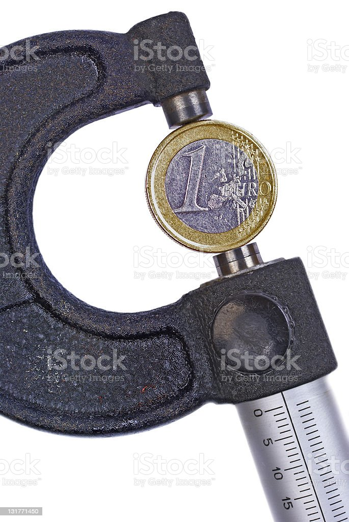 One Euro Coin royalty-free stock photo