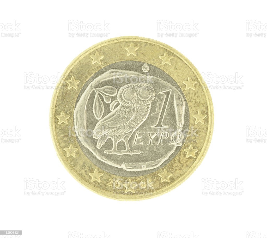 One Euro Coin (High Resolution Image) royalty-free stock photo