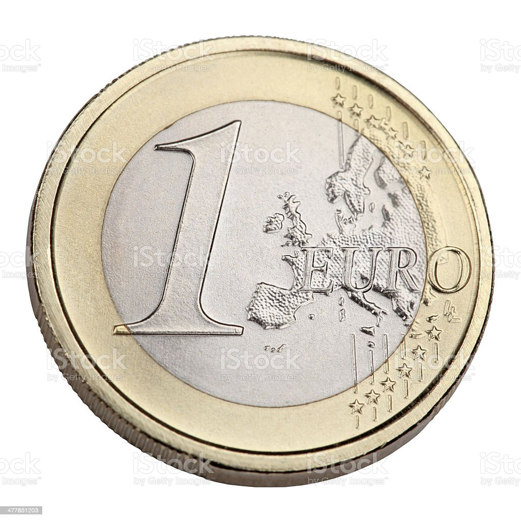 One Euro coin stock photo