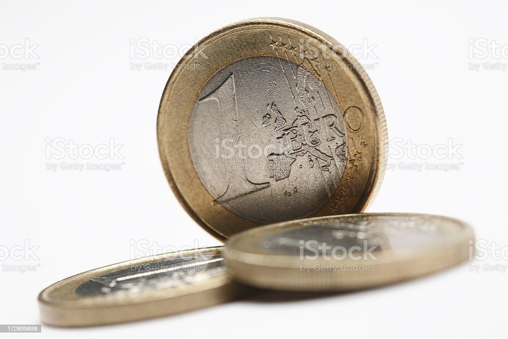 One Euro Coins royalty-free stock photo