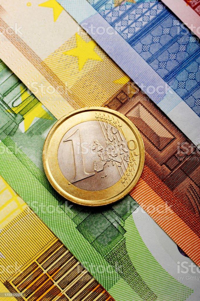 One Euro royalty-free stock photo