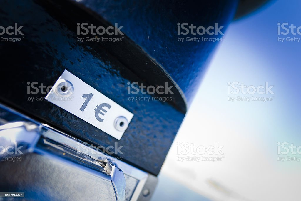 One Euro Symbol and Number stock photo