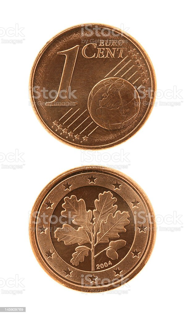 One Eurocents Coin royalty-free stock photo