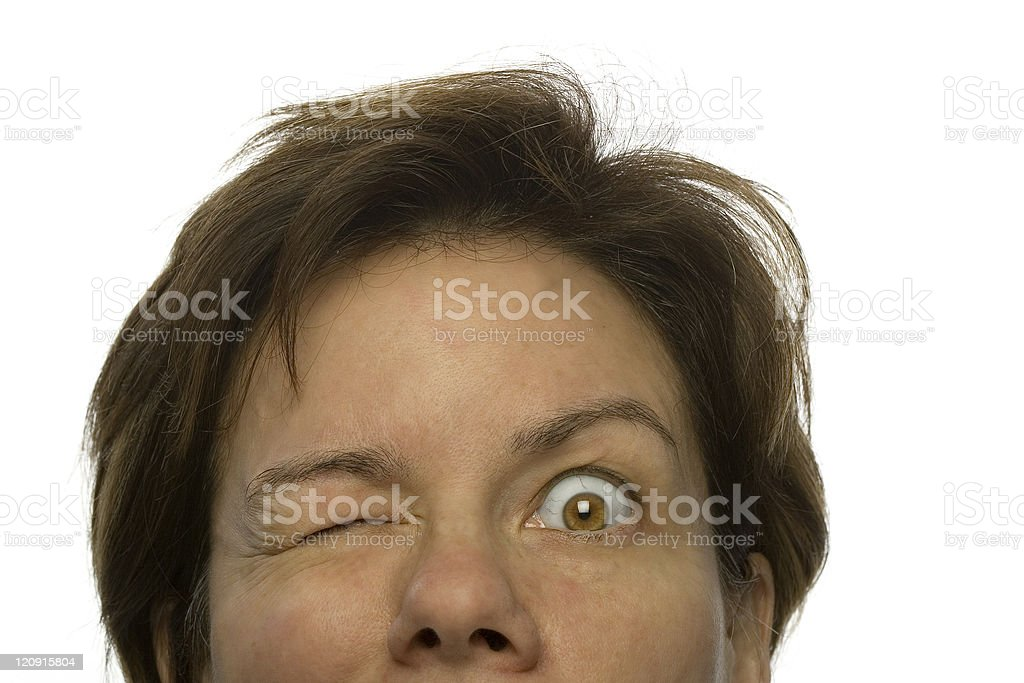One eye Focus royalty-free stock photo