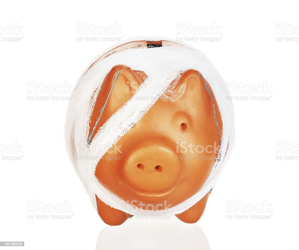 one eye piggy bank royalty-free stock photo