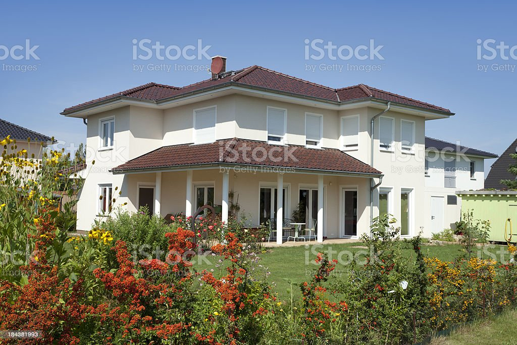 One family house - detached stock photo