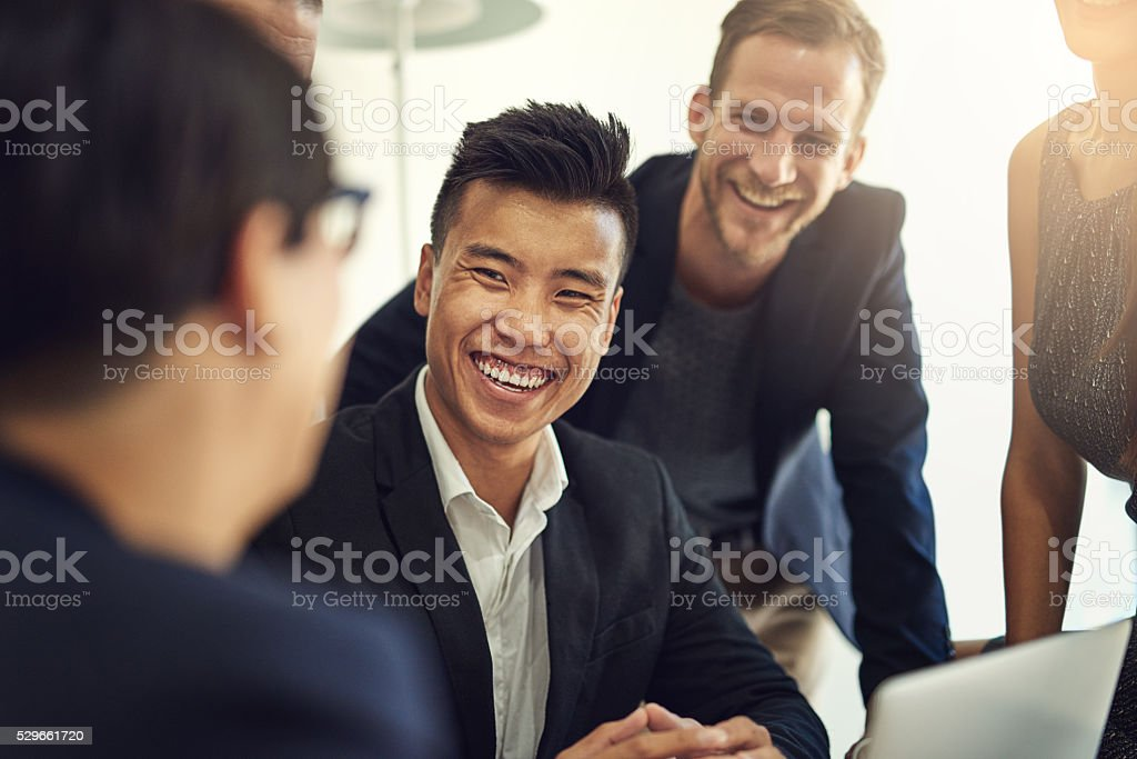 One feels motivated to work hard in a team stock photo