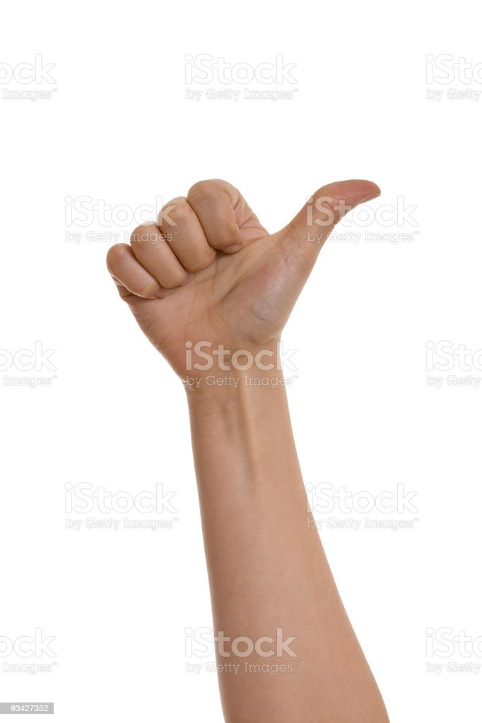 one finger royalty-free stock photo