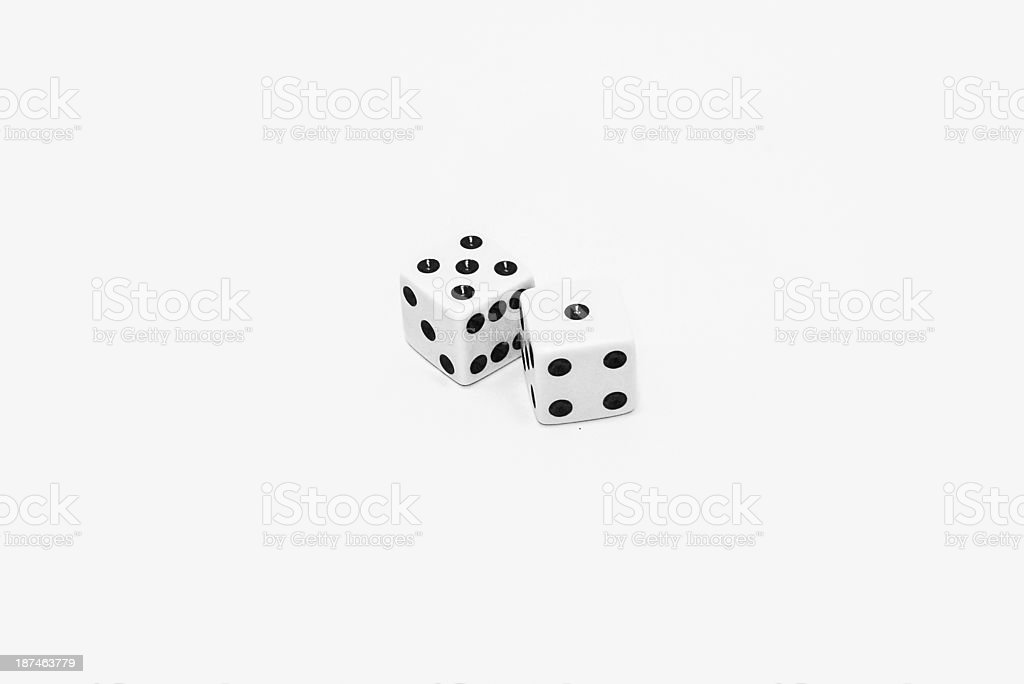 One Five Dices stock photo