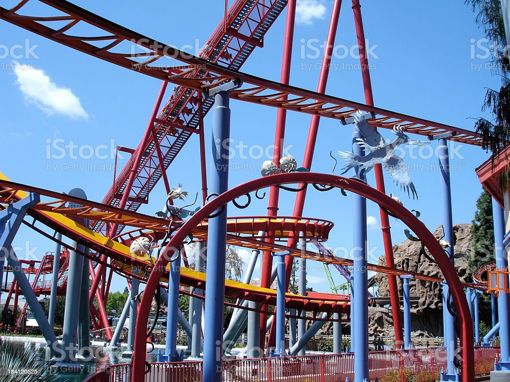 One Flew Over the Coaster's Nest stock photo