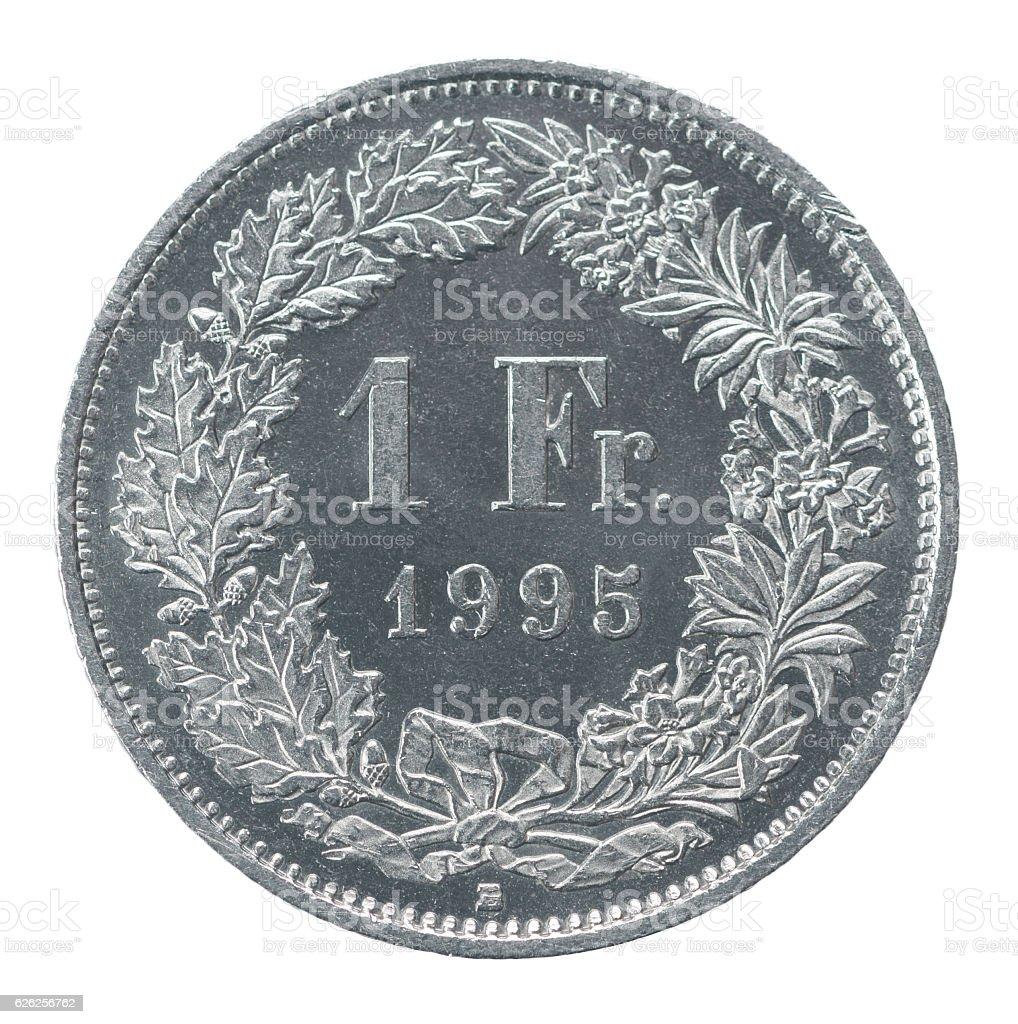 one francs stock photo
