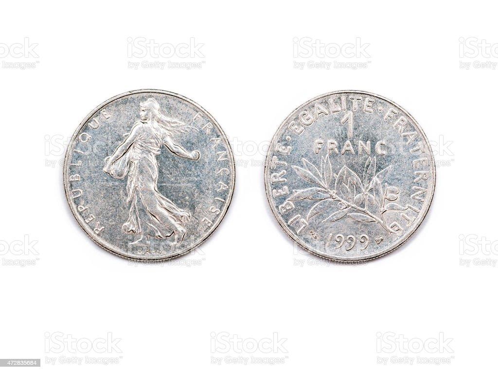 One French Franc 1999 stock photo