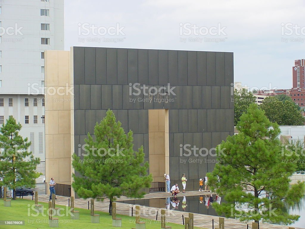 One Gate of Time @ Oklahoma City Memorial royalty-free stock photo
