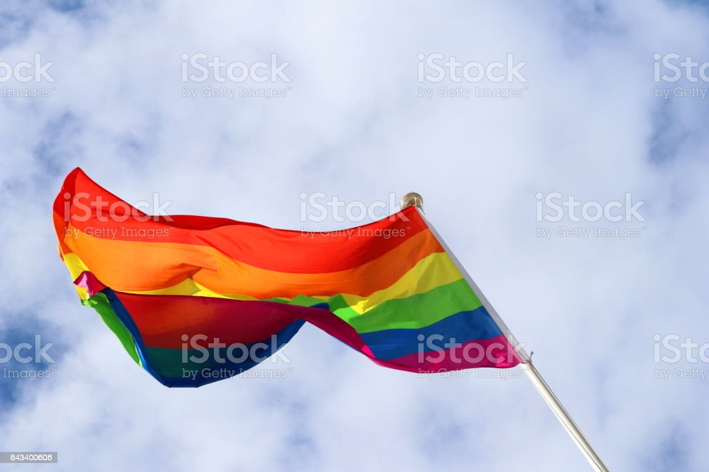 one gay flag stock photo