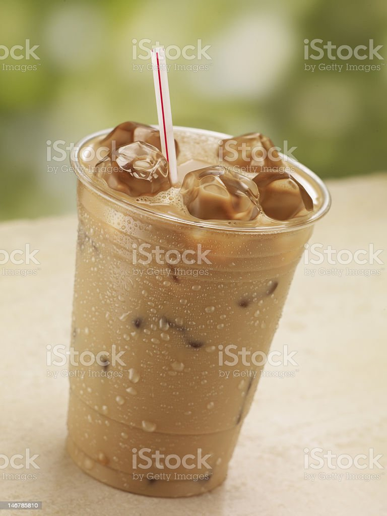One Glass of Iced Coffee royalty-free stock photo