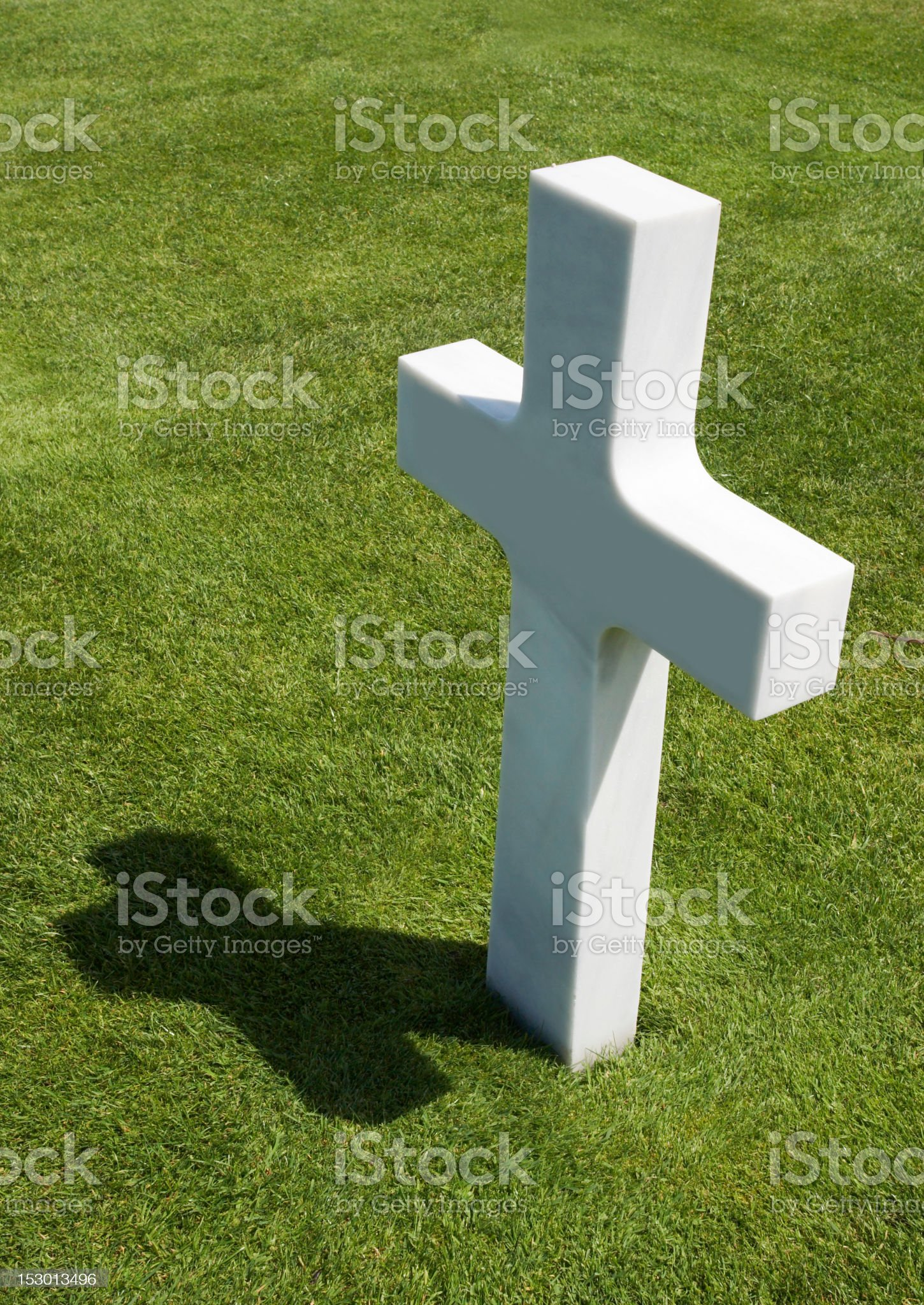 One Grave royalty-free stock photo