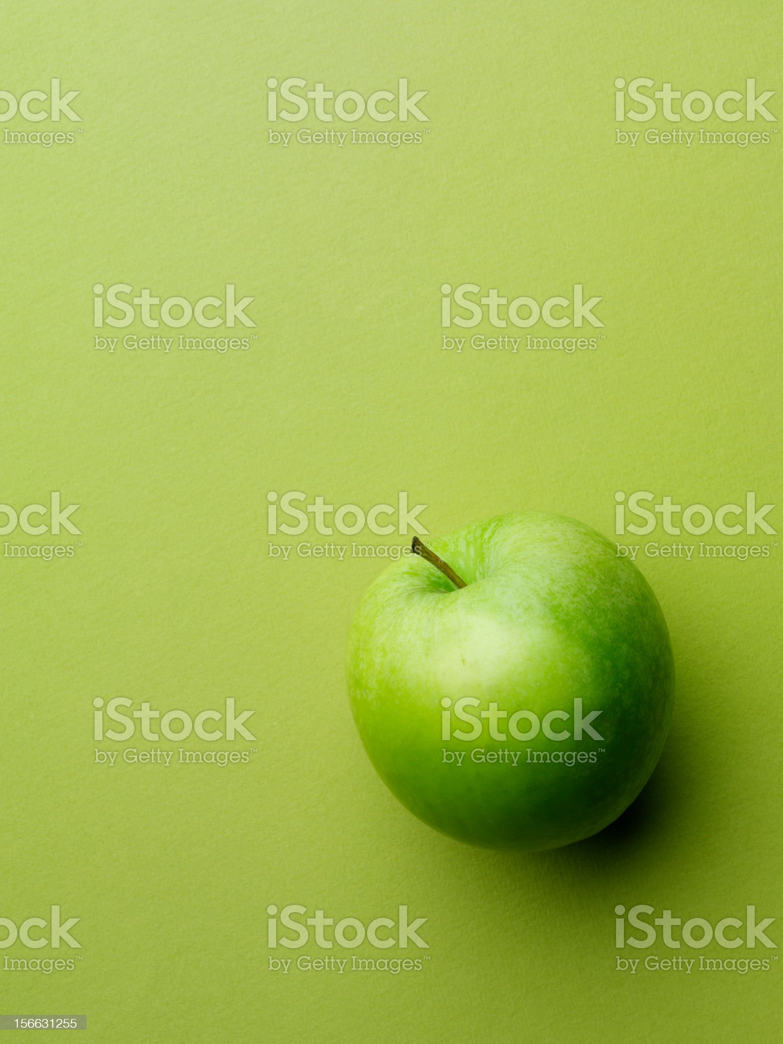 One Green Apple royalty-free stock photo