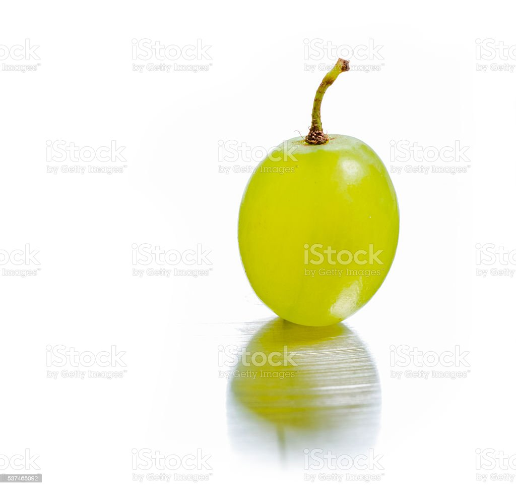 one green grapes. stock photo