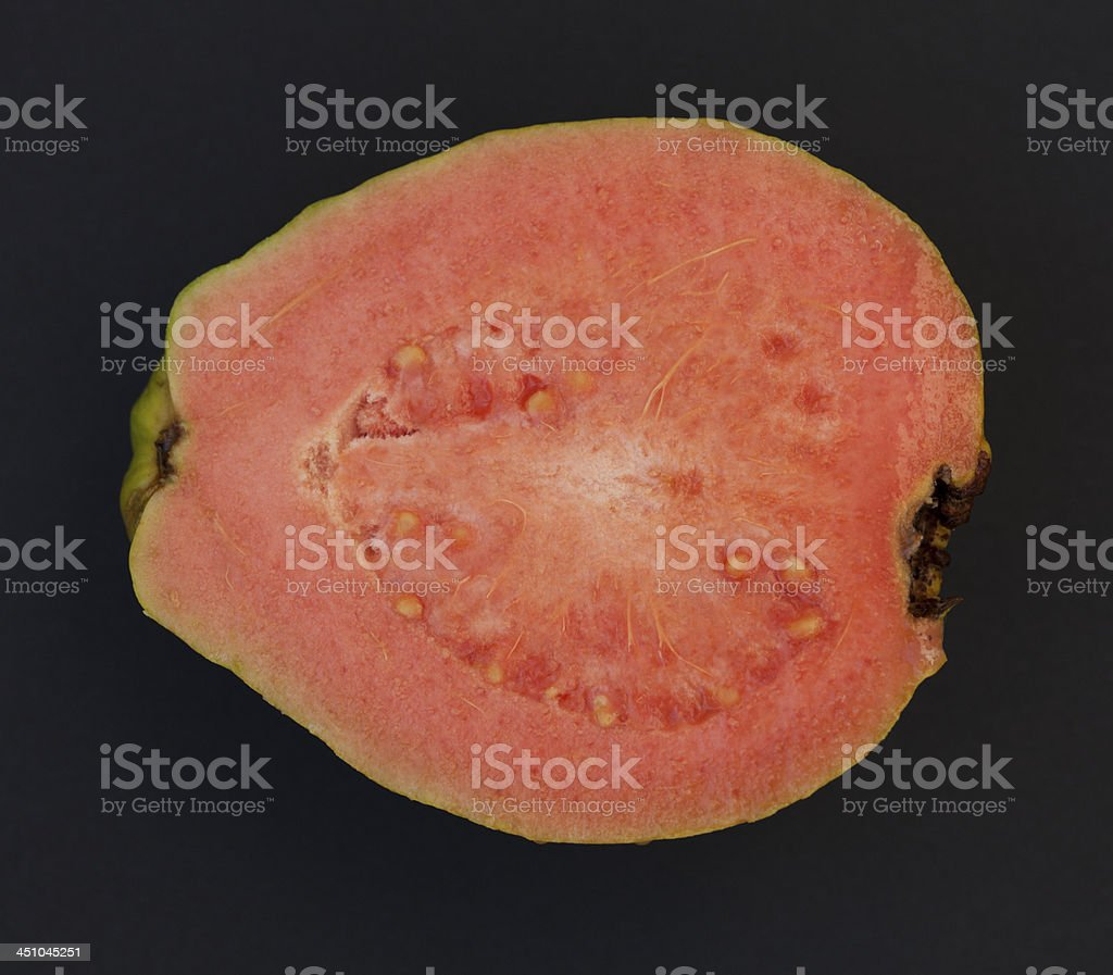 One half of Guava fruit stock photo