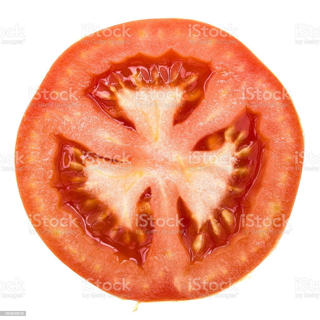 one half of tomato stock photo