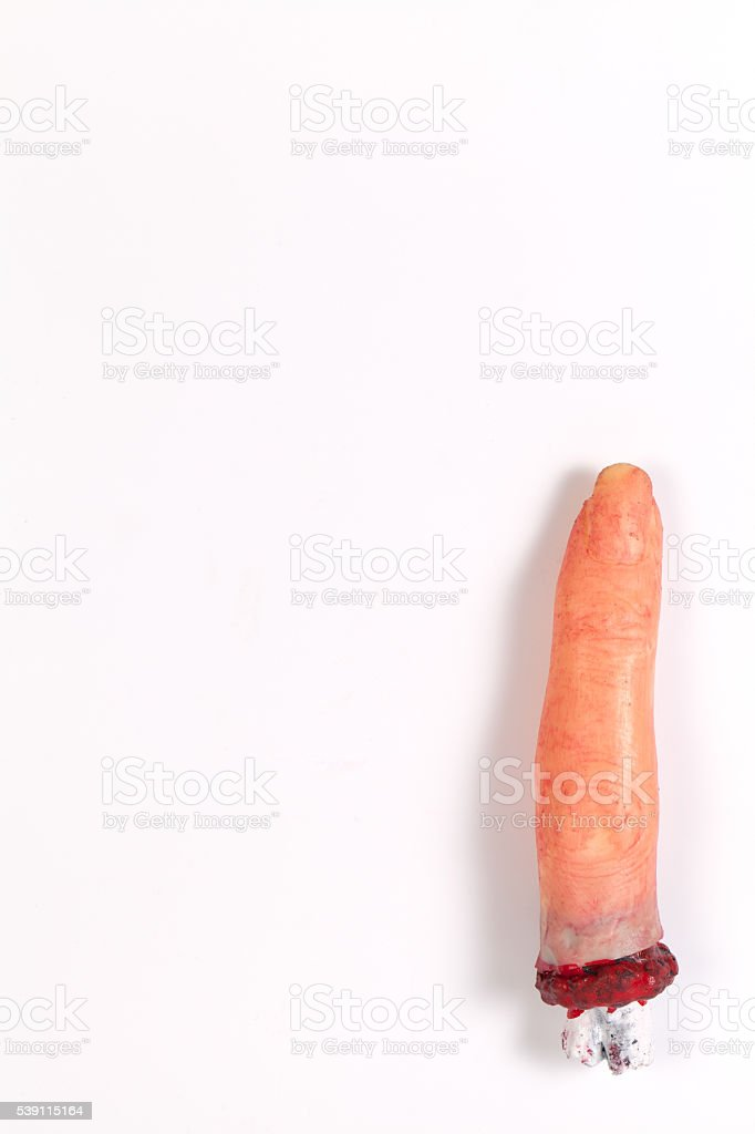 One Halloween finger supplies mysterious gifts horror gift Trick stock photo