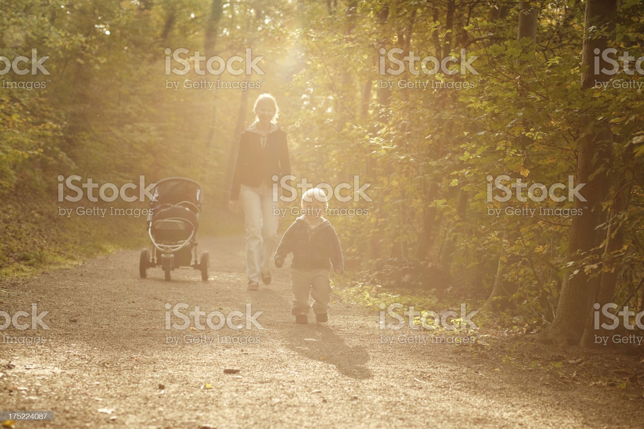 one happy day in autumn park royalty-free stock photo