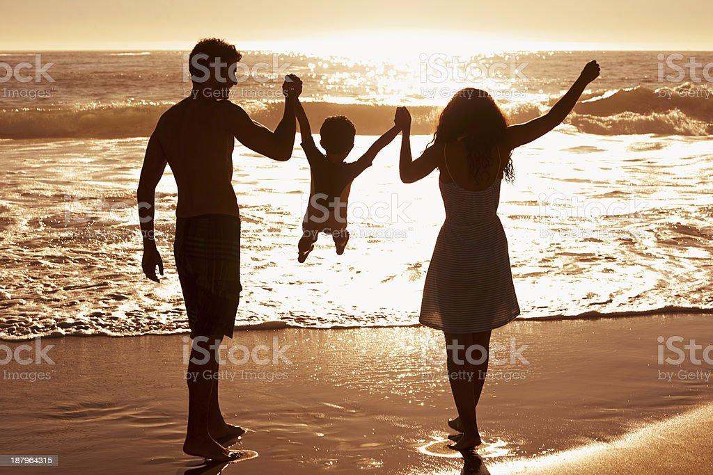 One happy family stock photo