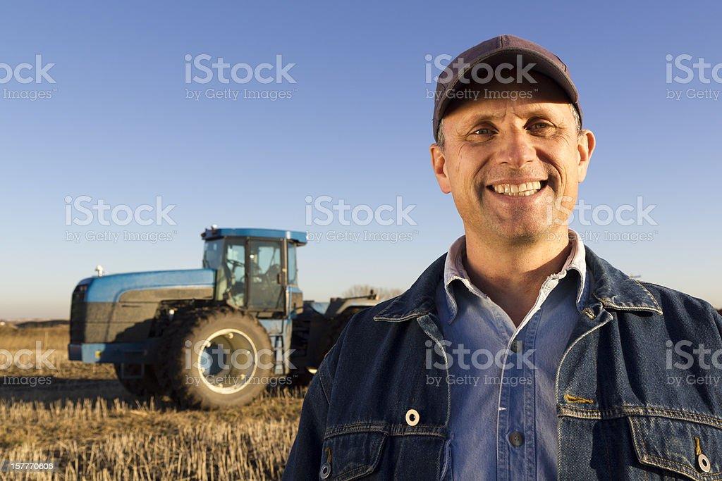 One Happy Farmer royalty-free stock photo