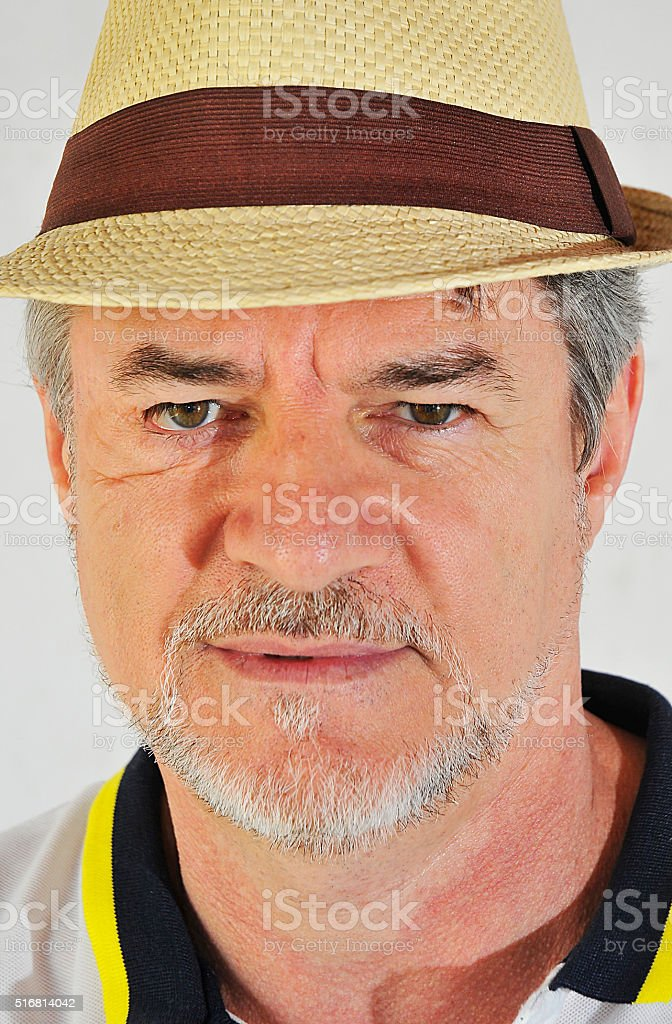 Man hat stock photo