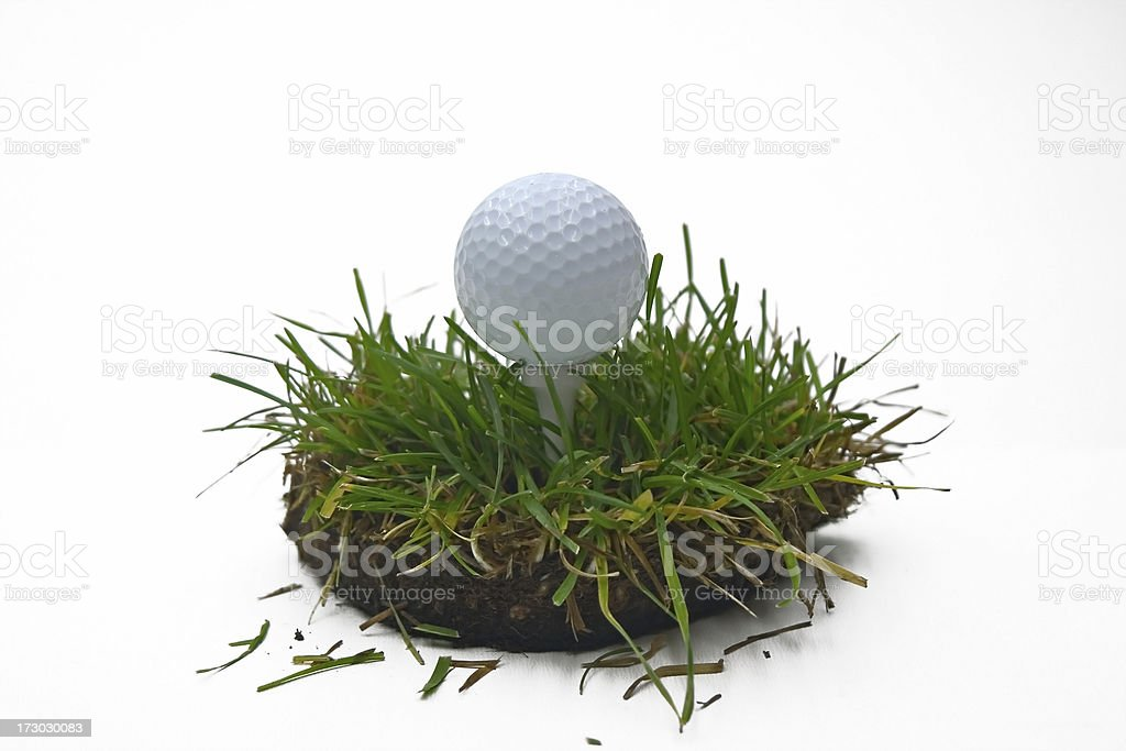 one heck of a divot stock photo
