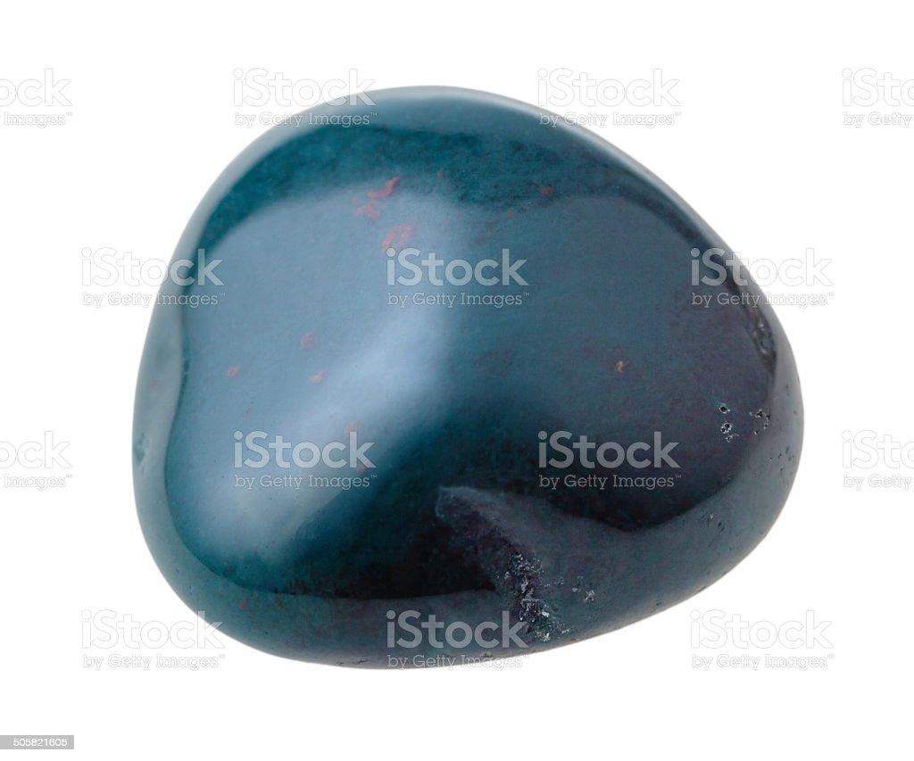 one heliotrope (bloodstone) gem stone isolated stock photo