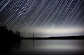 One Hour Exposure of a Lake in Arkansas