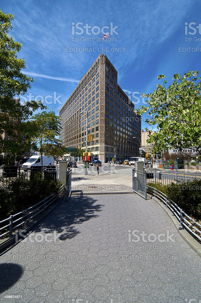 One Hudson Square Building, Canal Street, Lower Manhattan, NYC royalty-free stock photo