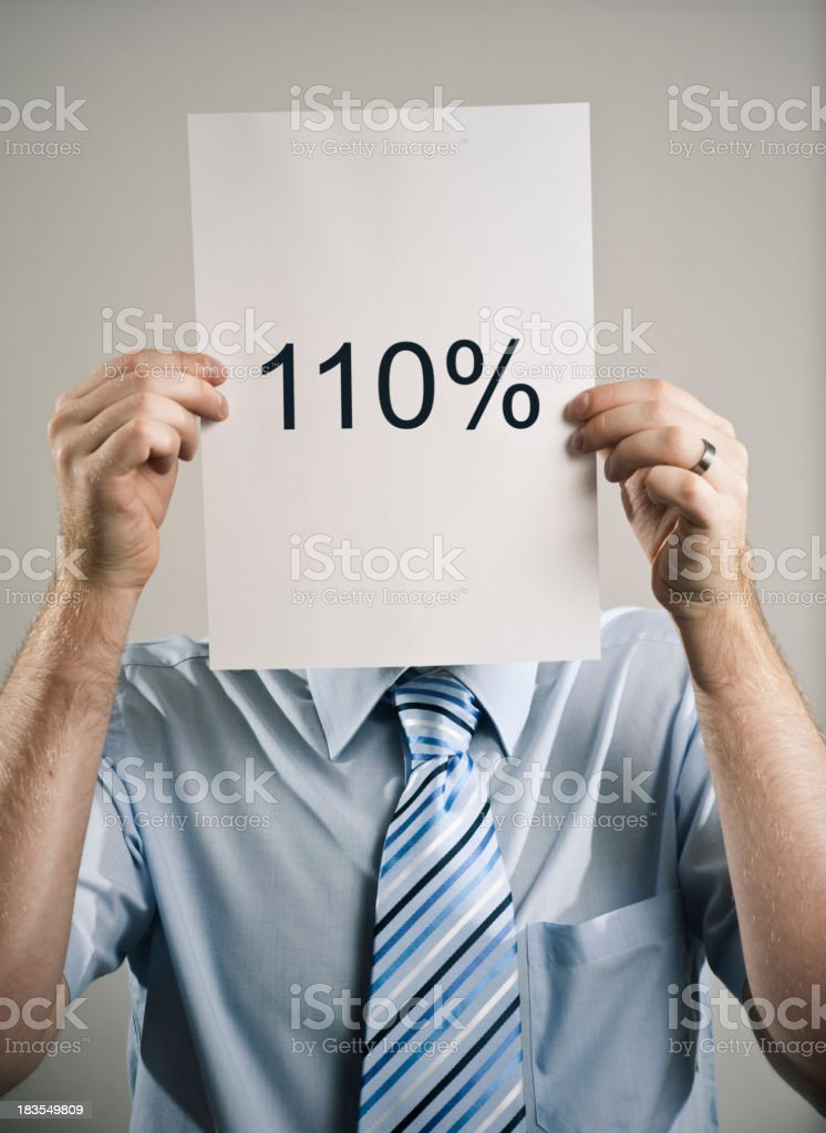 One Hundred & Ten Percent Business Guy royalty-free stock photo
