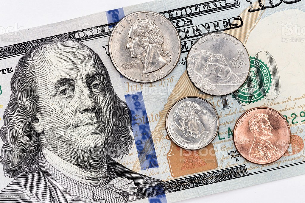One Hundred and Cents stock photo