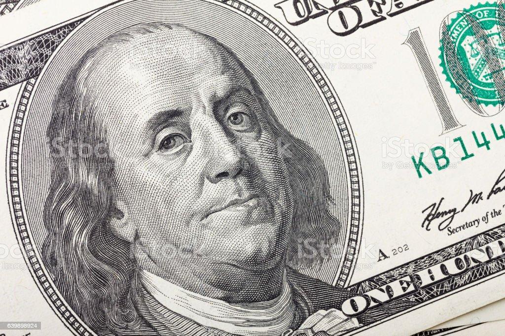 One hundred dollar bill stock photo
