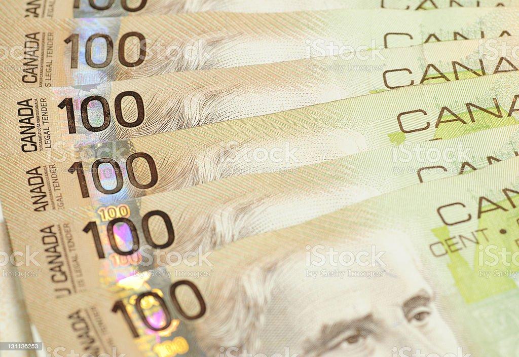 One Hundred Dollar Bills background royalty-free stock photo