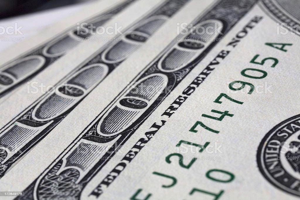 One hundred dollar bills. royalty-free stock photo