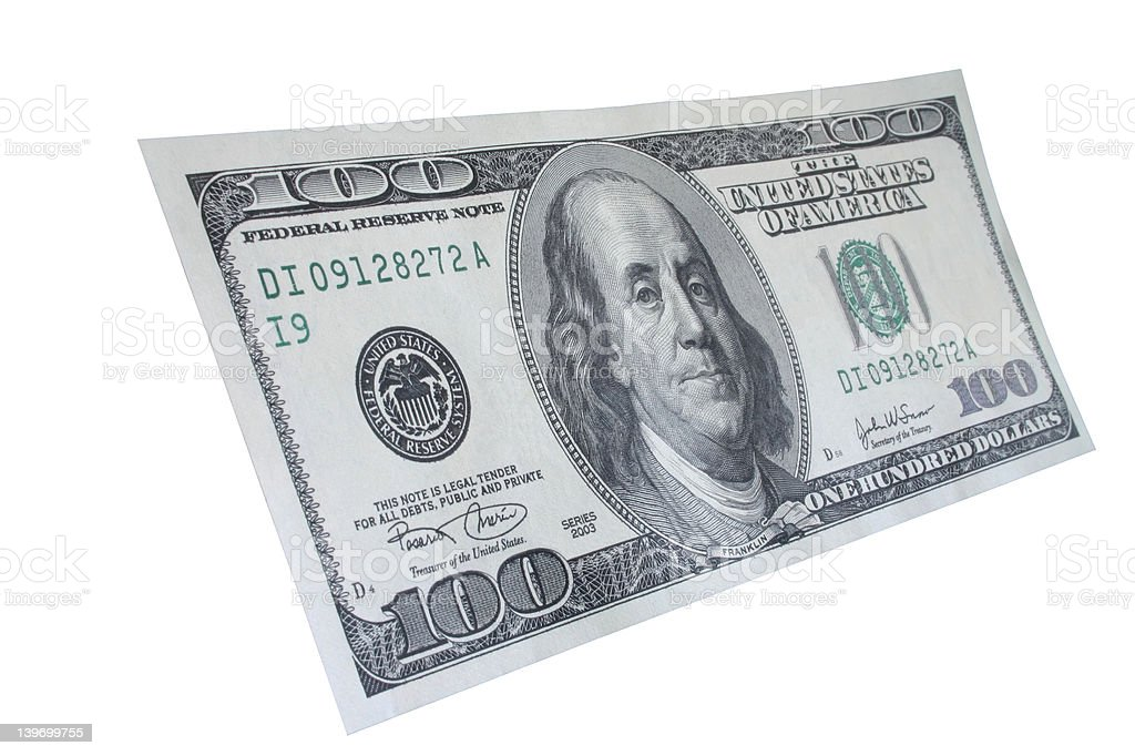 One hundred dollar note #5 royalty-free stock photo