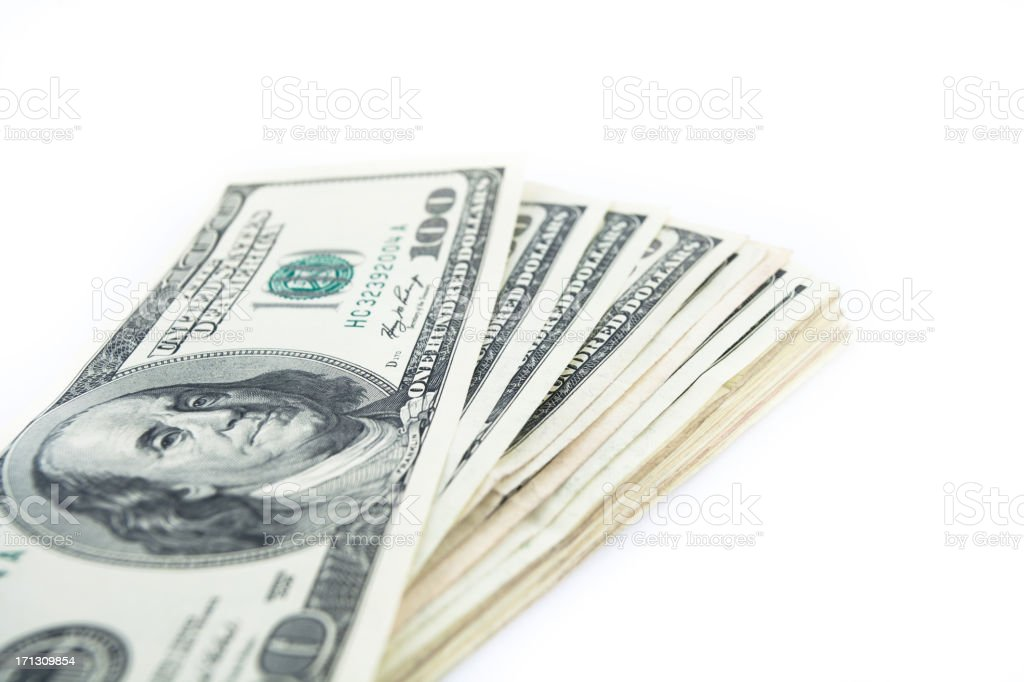 One Hundred Dollar Notes royalty-free stock photo