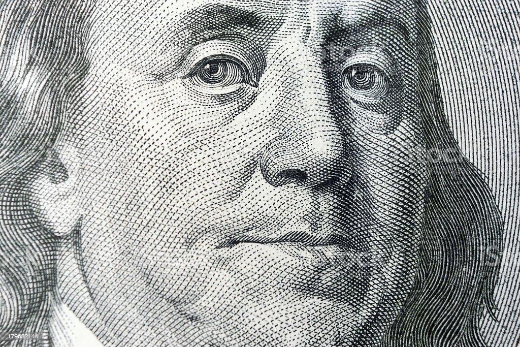 One Hundred Dollar royalty-free stock photo