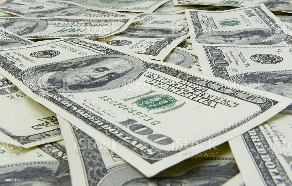 One Hundred dollars background royalty-free stock photo