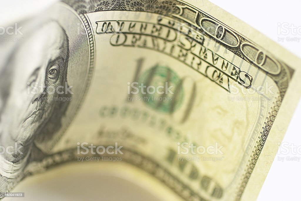 One Hundred Dollars royalty-free stock photo