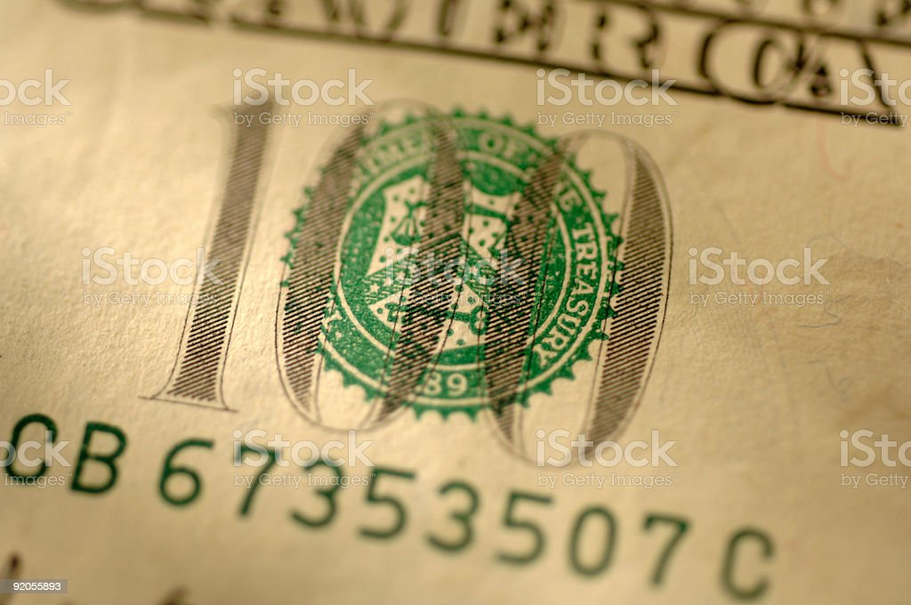 De cien dólares foto de stock libre de derechos