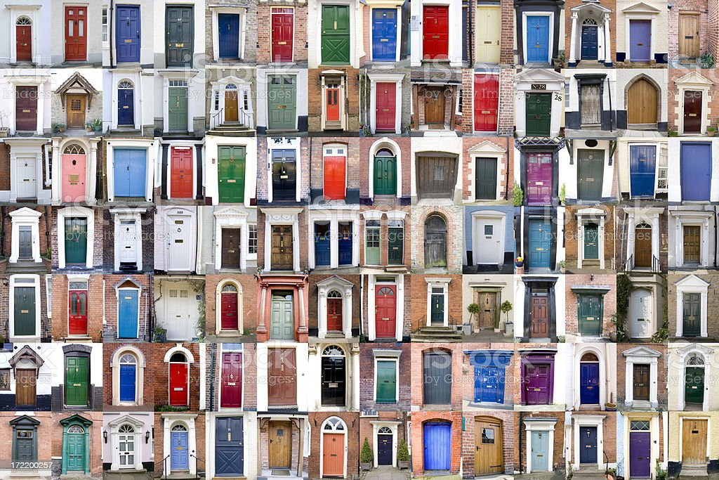 One Hundred Doors XXXLarge stock photo