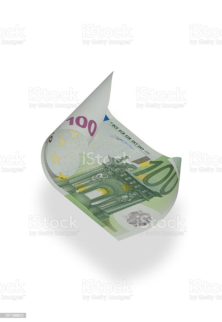 One Hundred Euro Banknote (isolated) stock photo