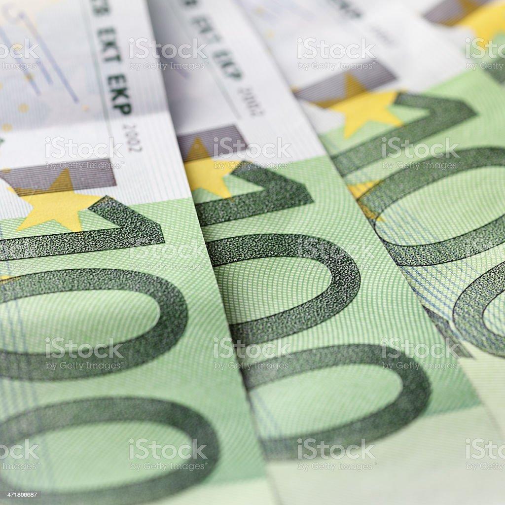 One Hundred Euro Banknotes royalty-free stock photo